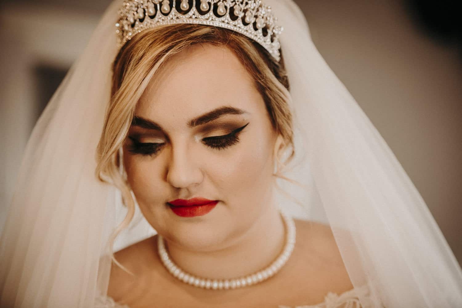 unposed bridal portrait