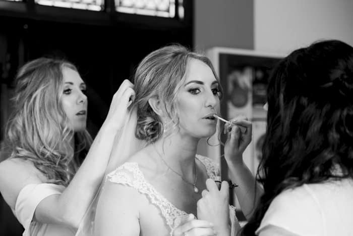 last minute touches to make up