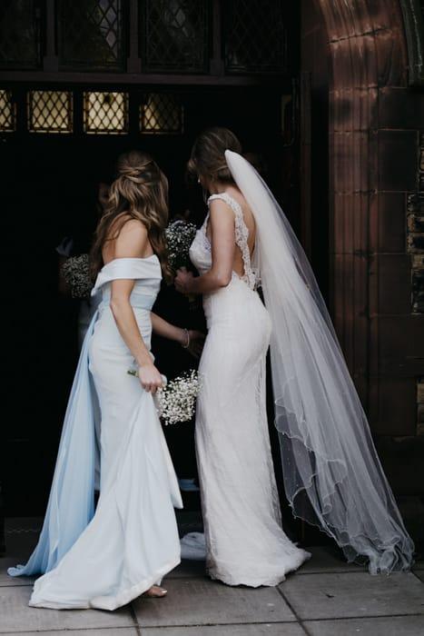 bride nd bridesmaid