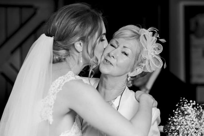 bride and auntie moment