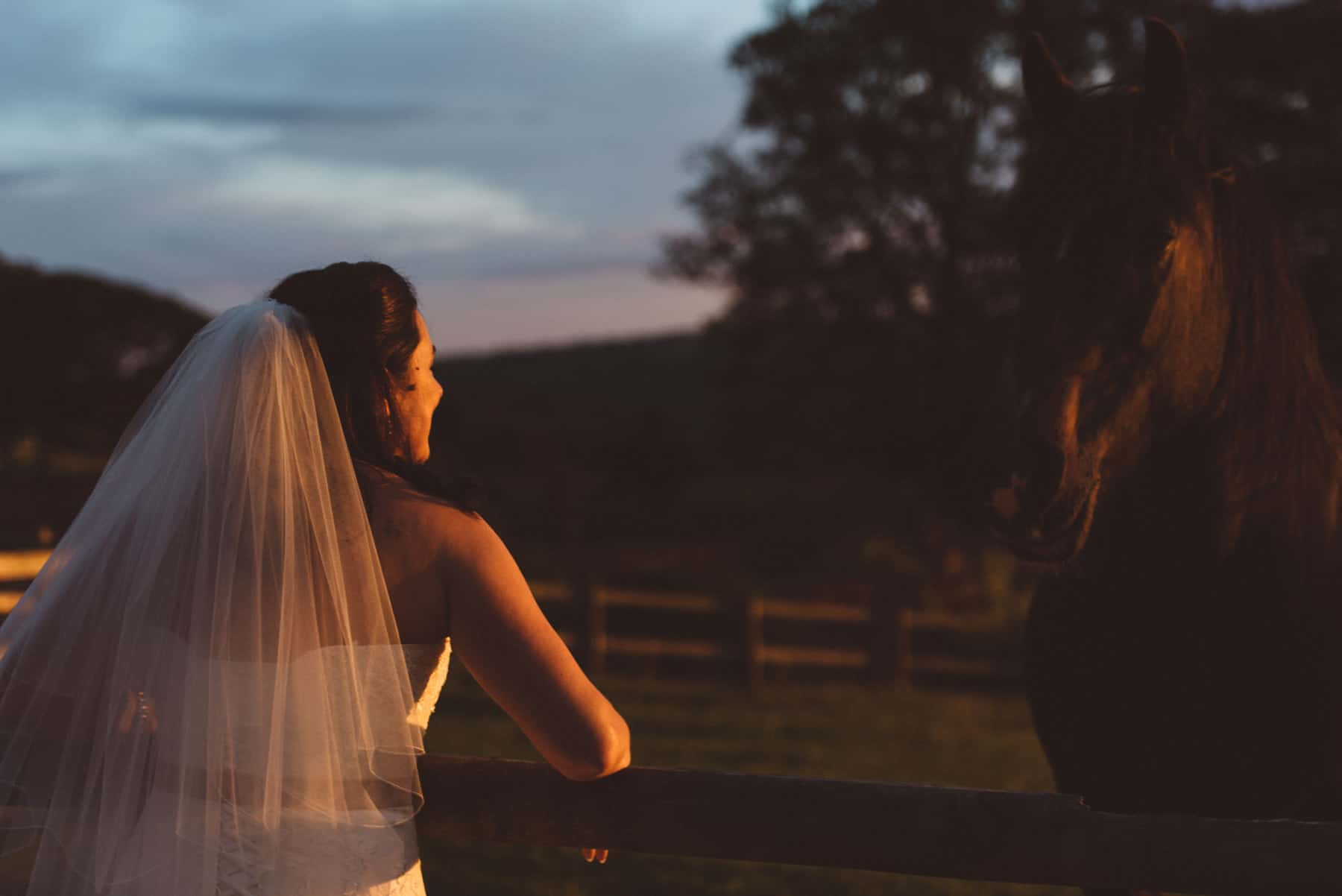 wedding photography bride in sunset (1 of 1)
