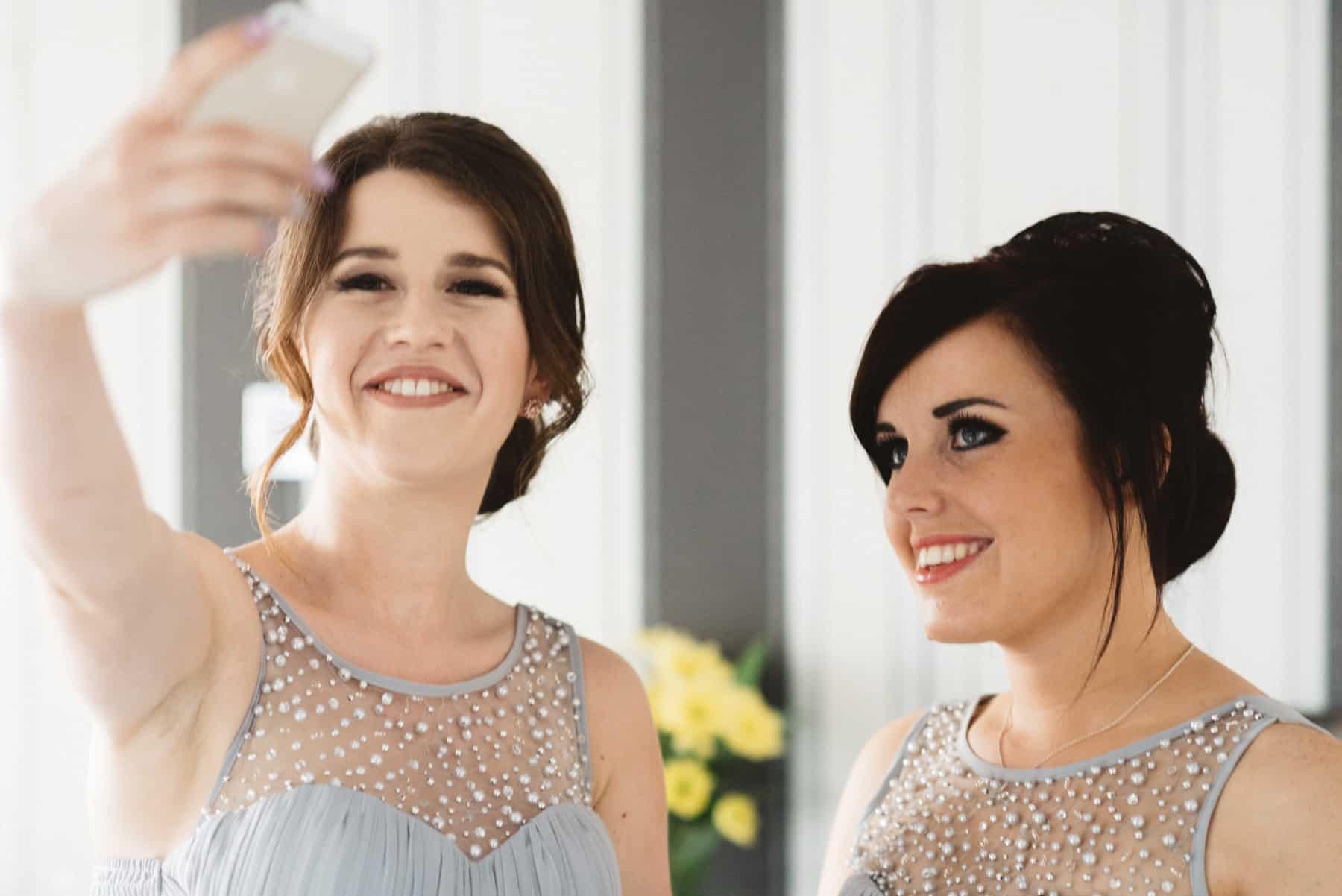 wedding photography bridesmaids selfie (1 of 1)