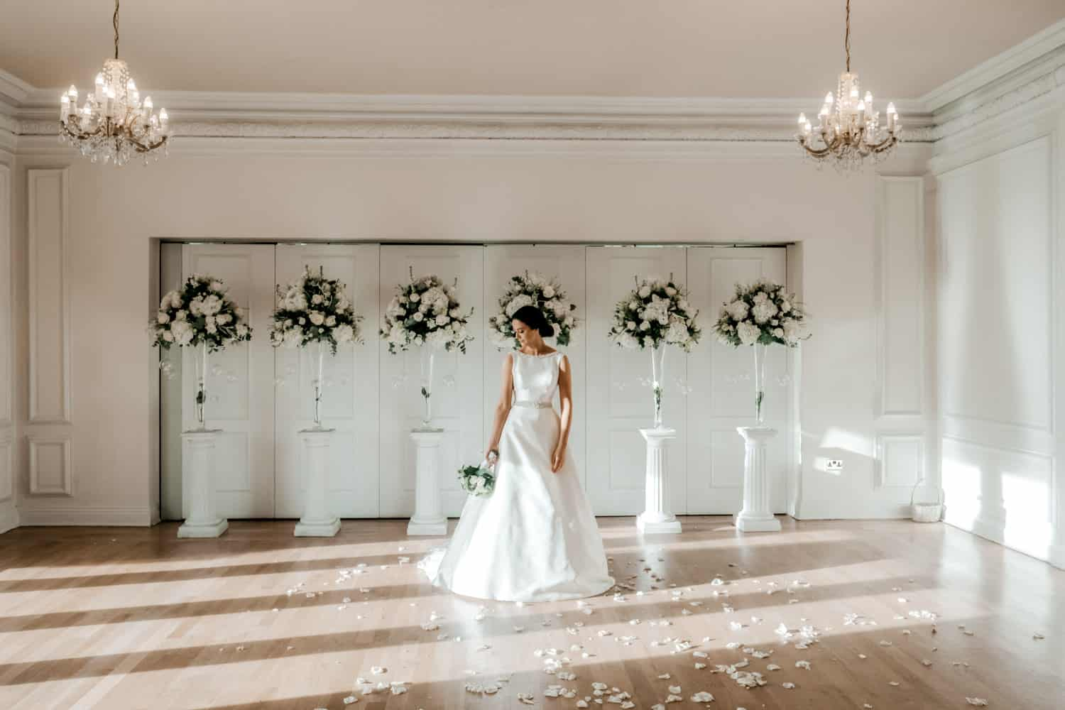 stunning indoor bride portrait