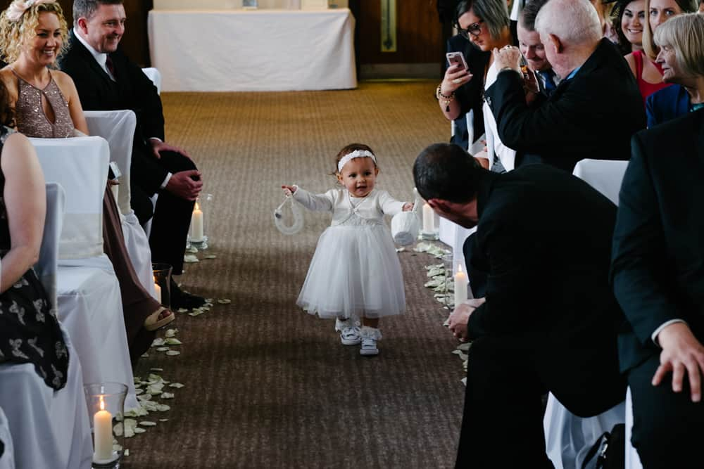 cute baby bridesmaid