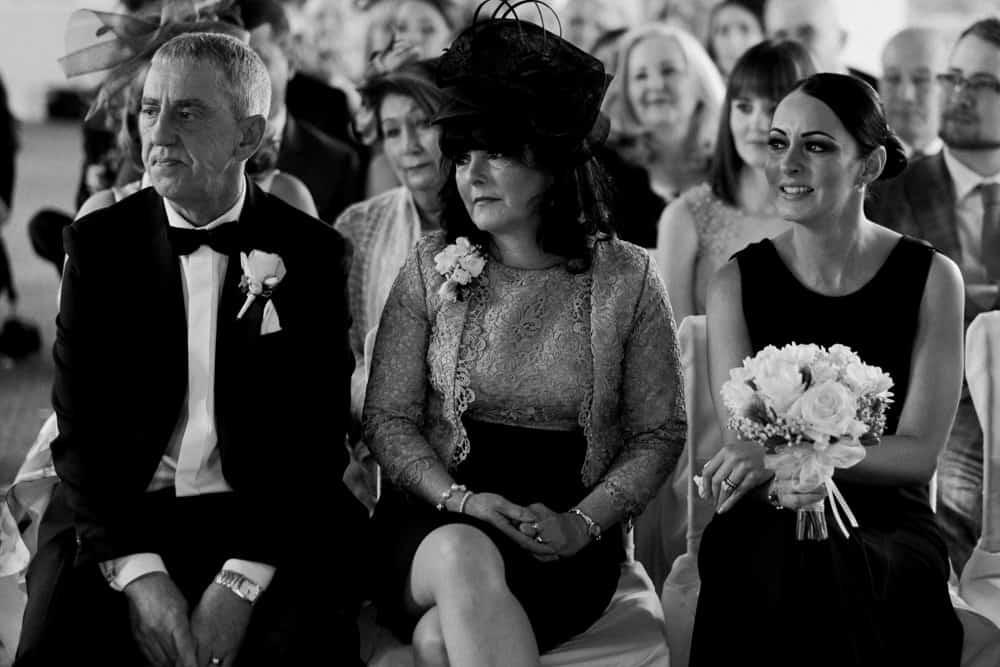 bride's mum smiling
