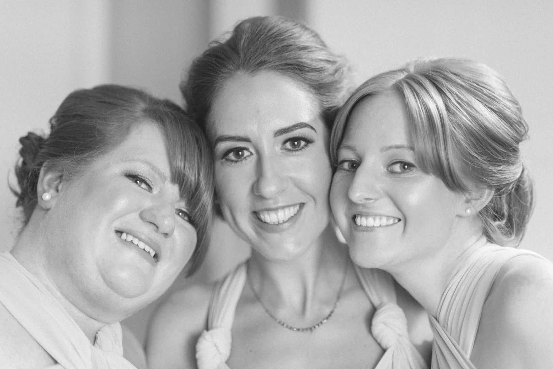 beautiful bridesmaids portrait