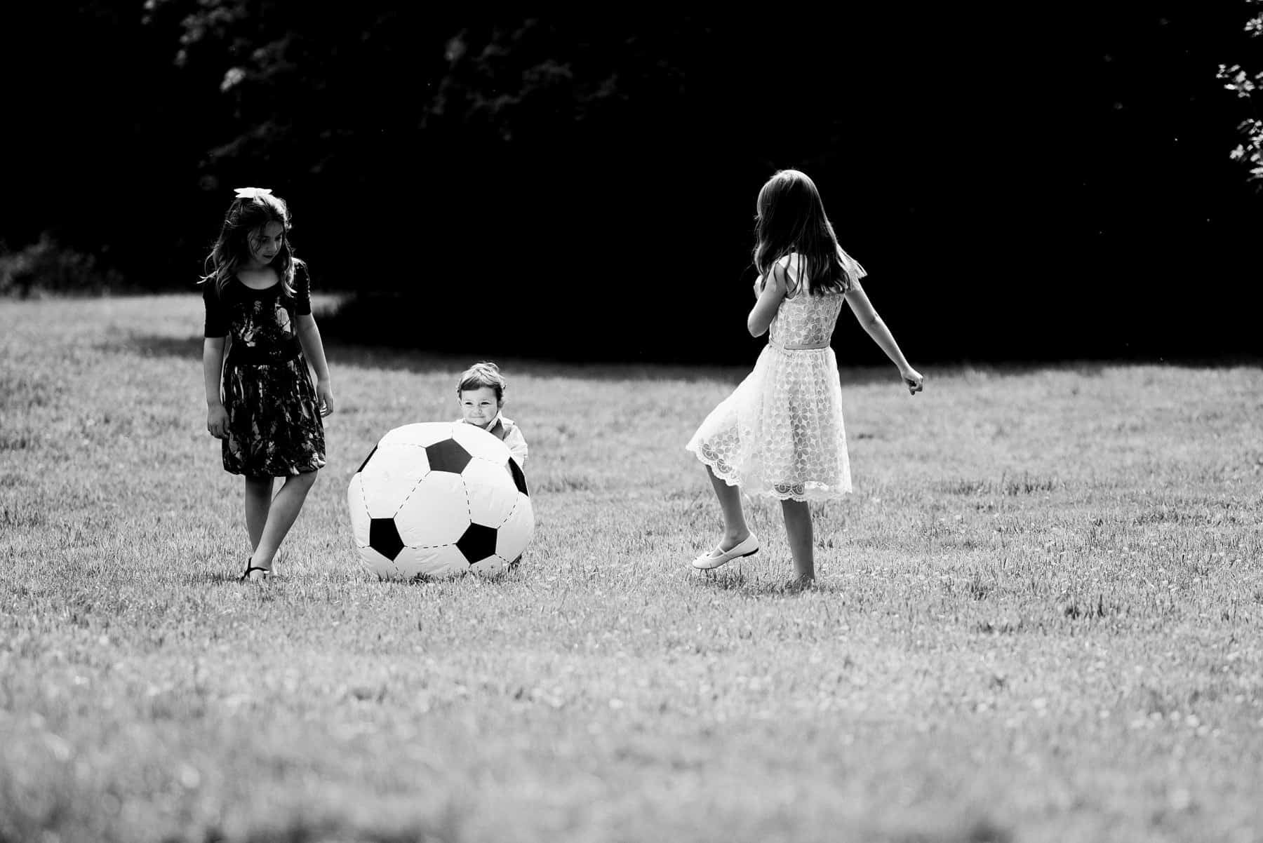guests playing football