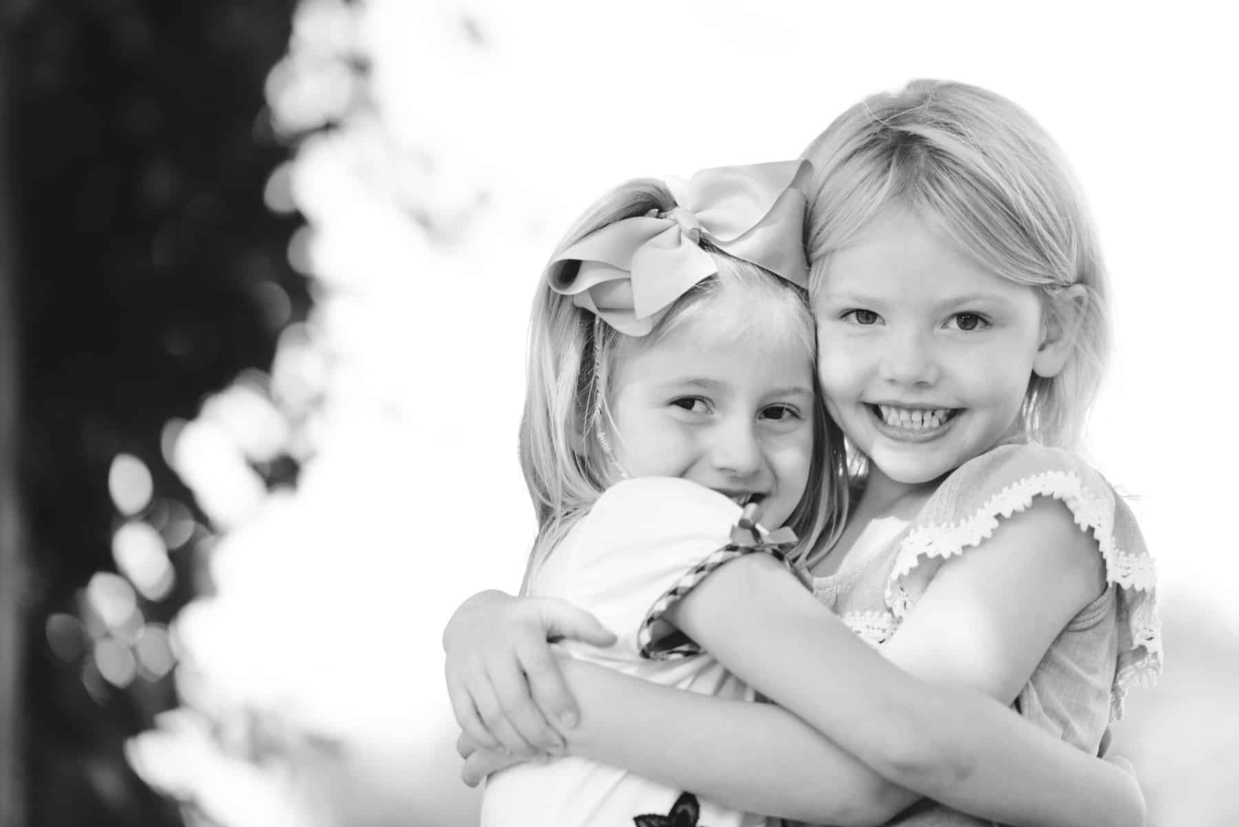 Cute little girls portrait