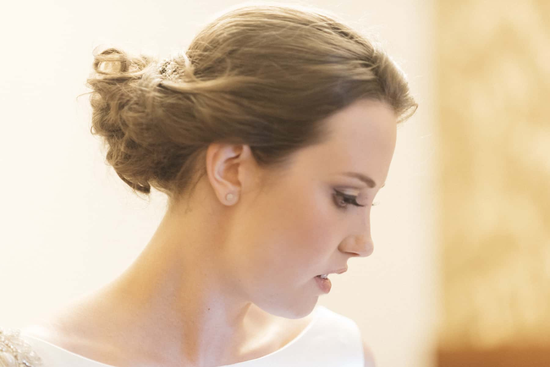 thoughtful bride