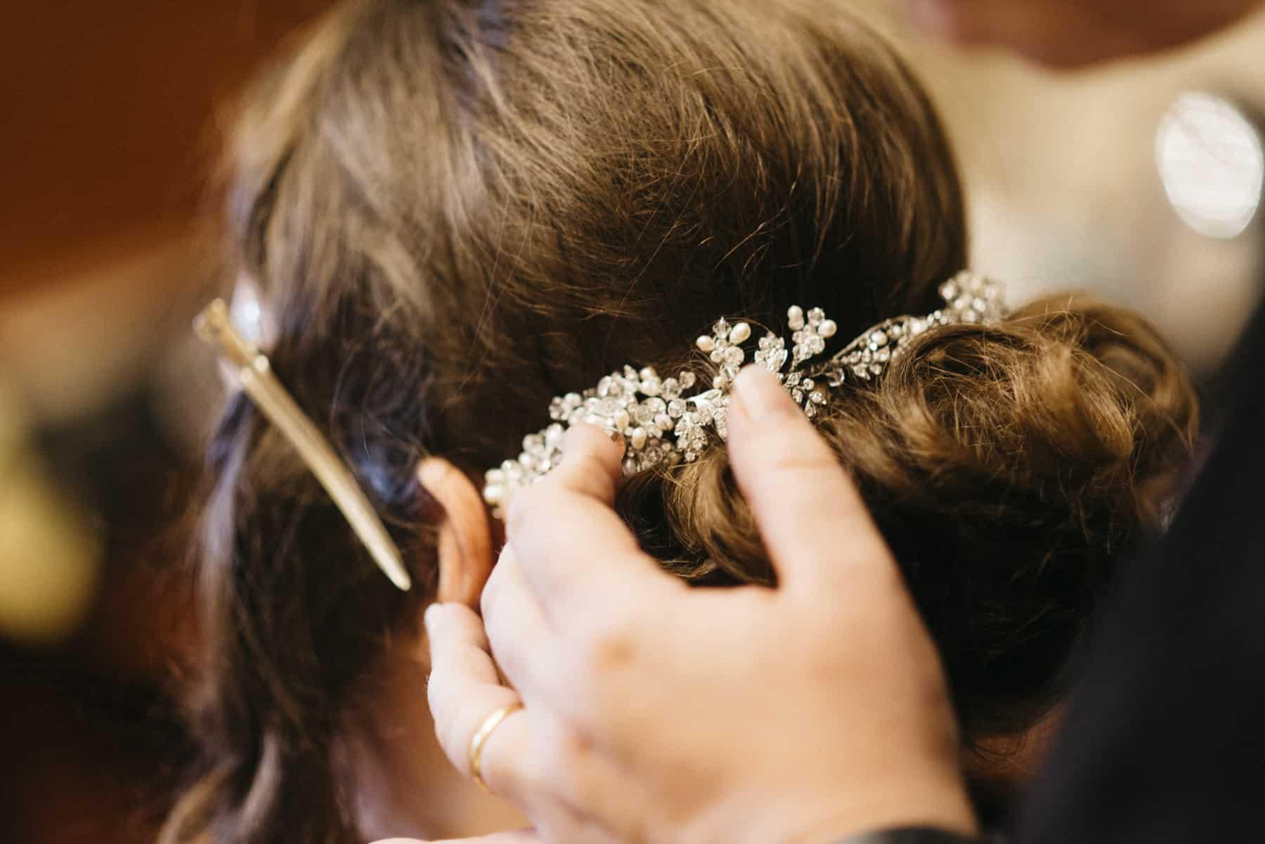 bride's hair preparations