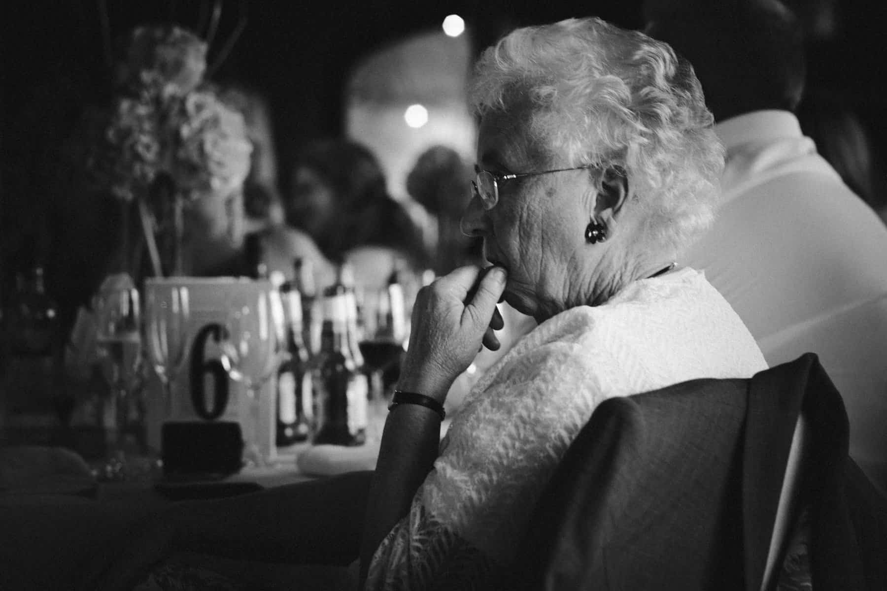 grandmother watches on