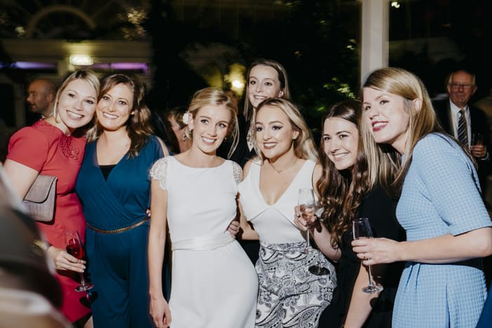 bride and her girlfriends