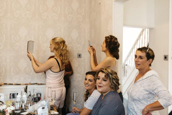 All the ladies getting ready