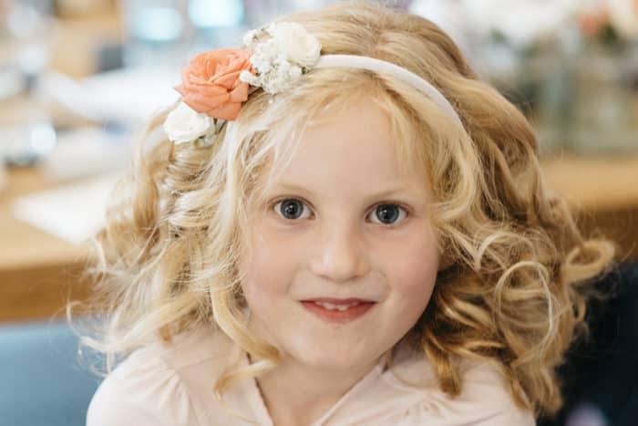 flower girl portrait