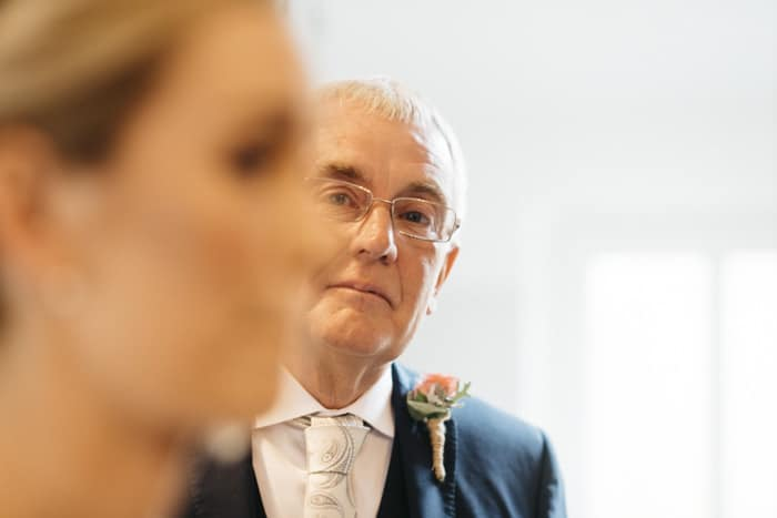 bride's dad loving look