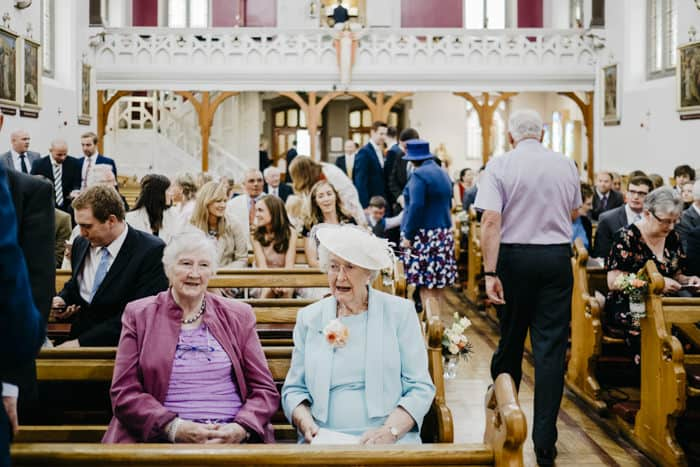 older guests in the church