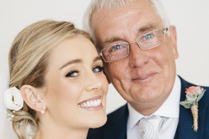 bride and her dad portrait