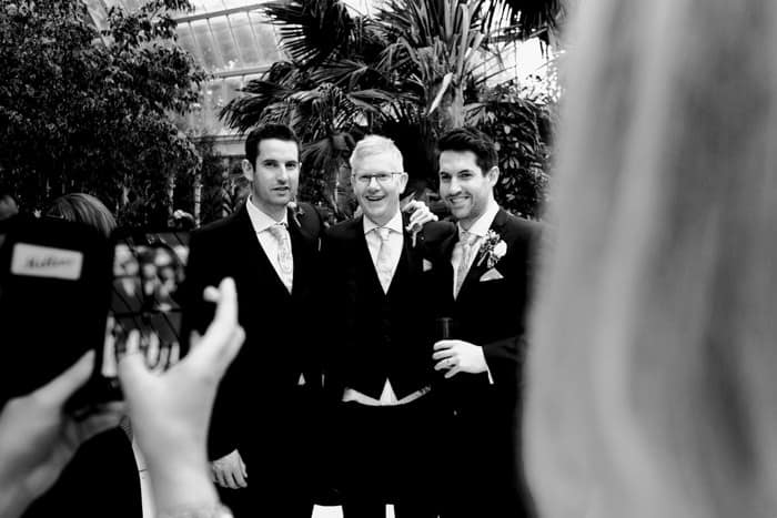 groom, dad and brother shot