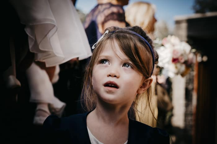 beautiful flower girl