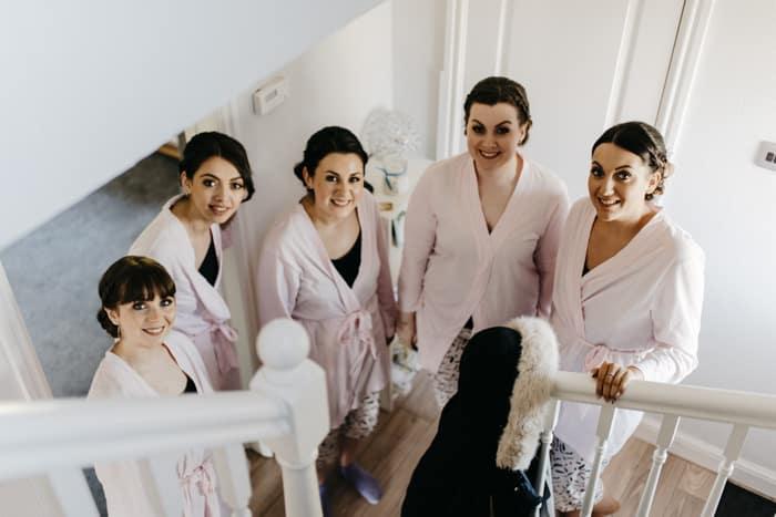 bridesmaids wait fr the bride