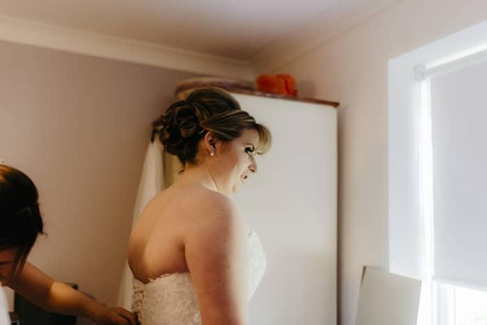 unposed bridal portrait