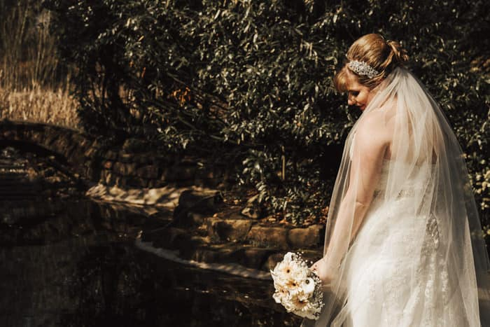 bride and the bouquet in gorgeous light