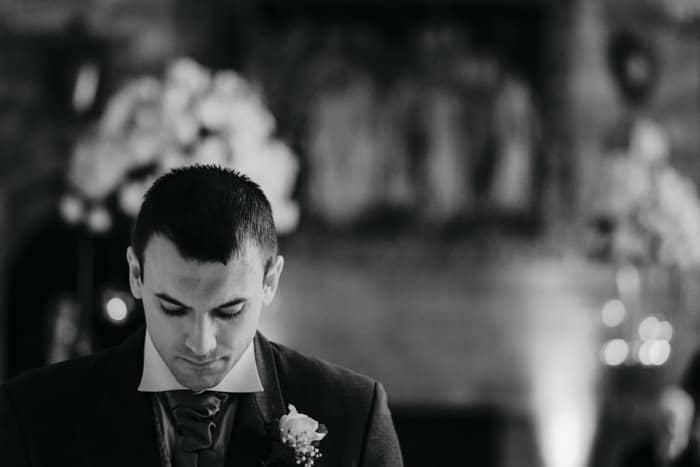 A nervouse groom