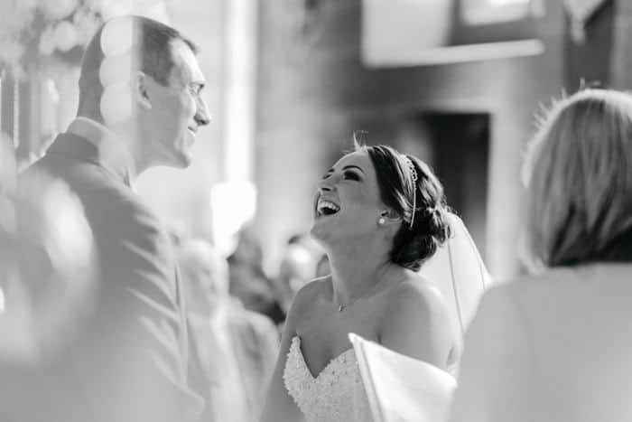 Laughter at the altar