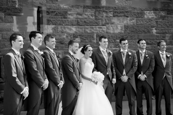bridal party group shot