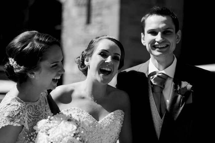 bride and her siblings