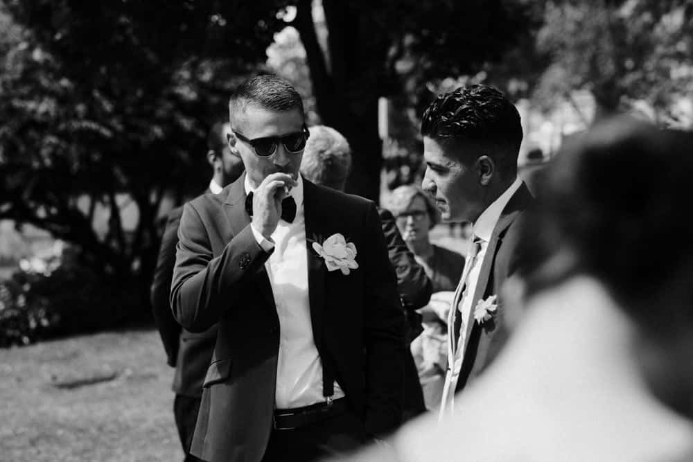 groom smoking