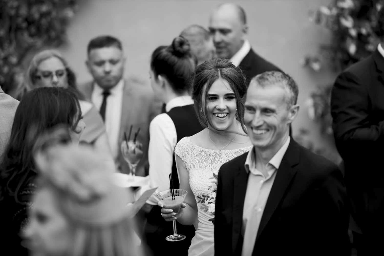 hapy wedding guests