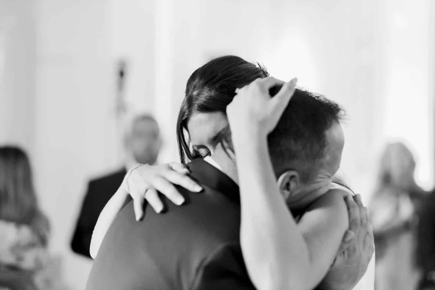 A tender moment on the dance floor