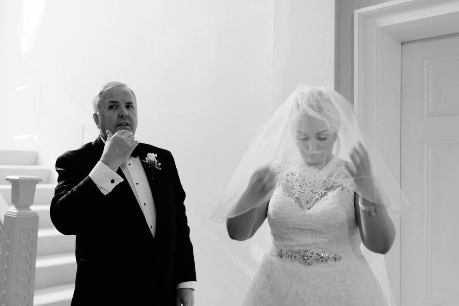 bride and her dad ready