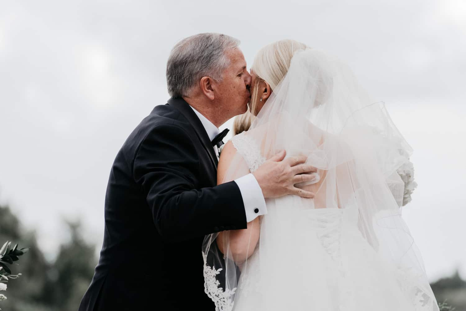 A kiss from dad