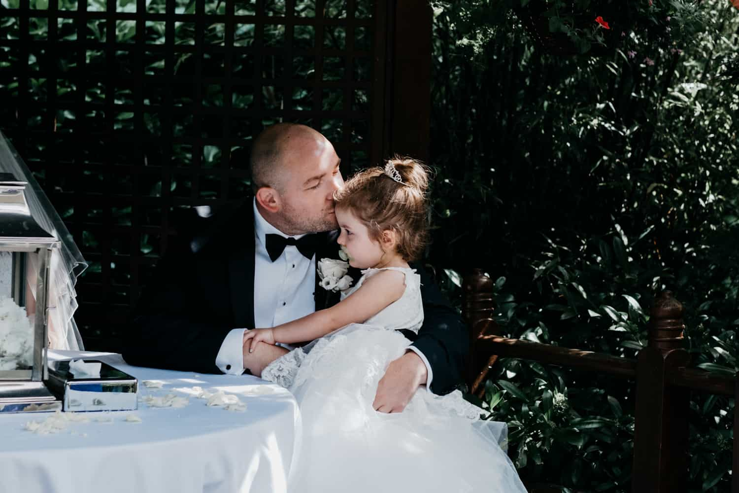 Groom and his daughter