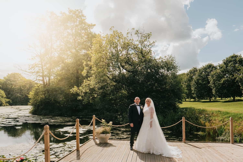 Stunning bride and groom portrait