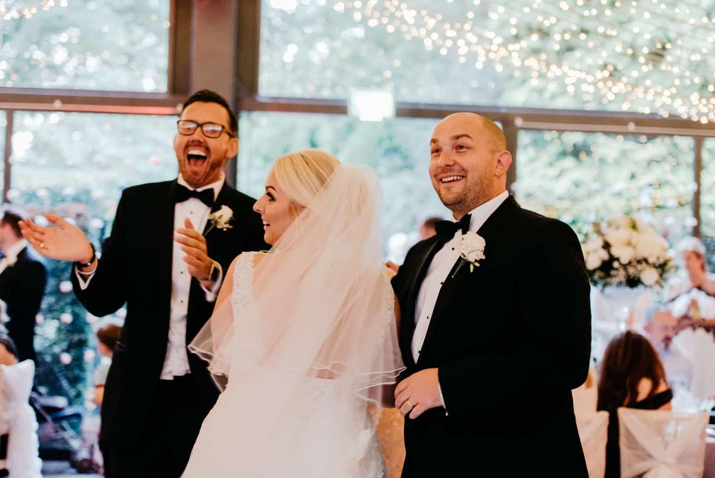 bride and groom get asurprise