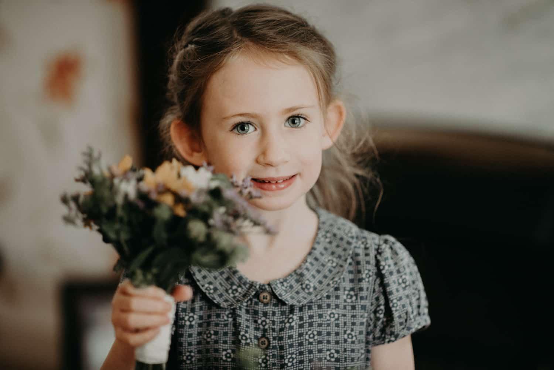 lovely flower girl portrait
