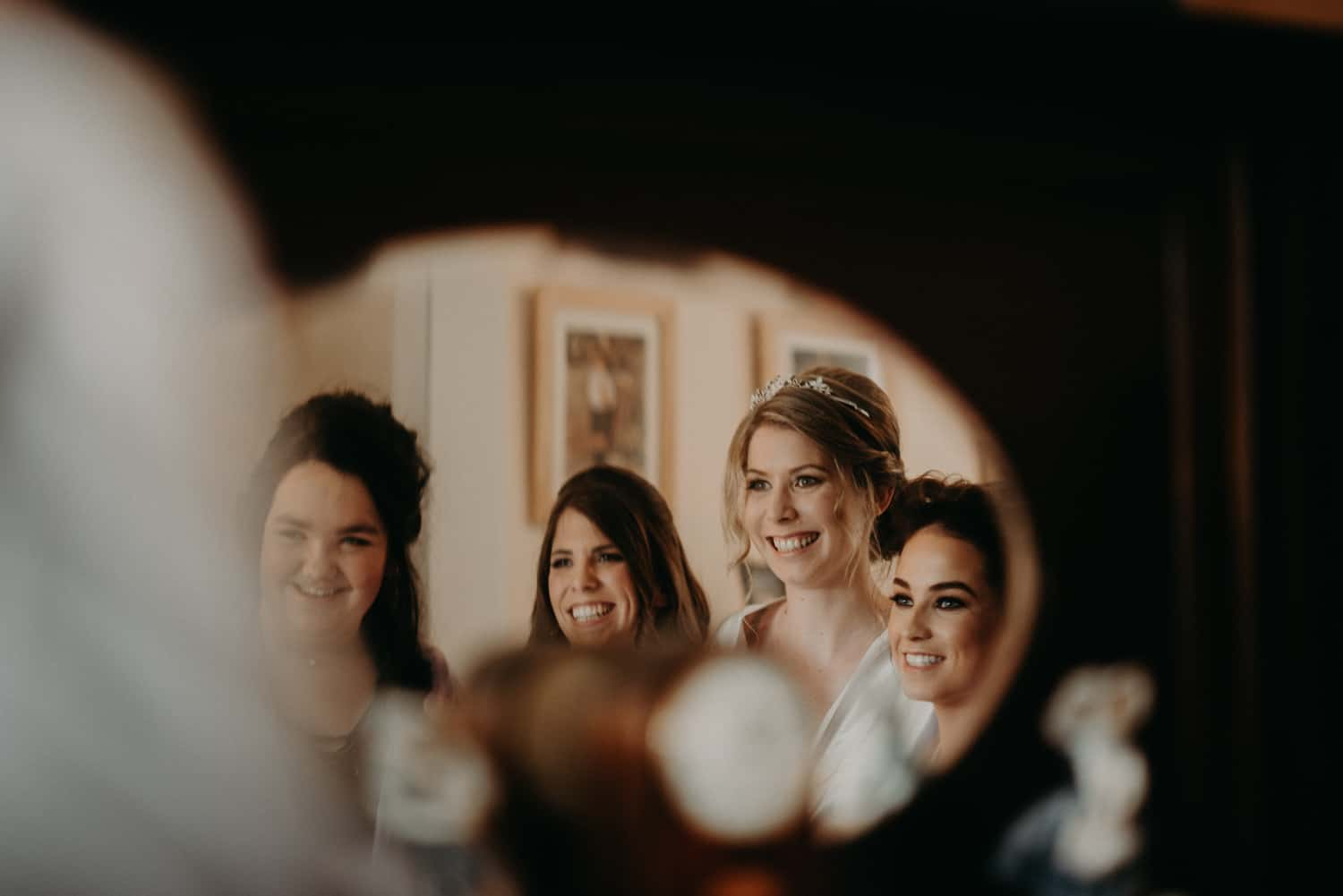 clever bridal party shot