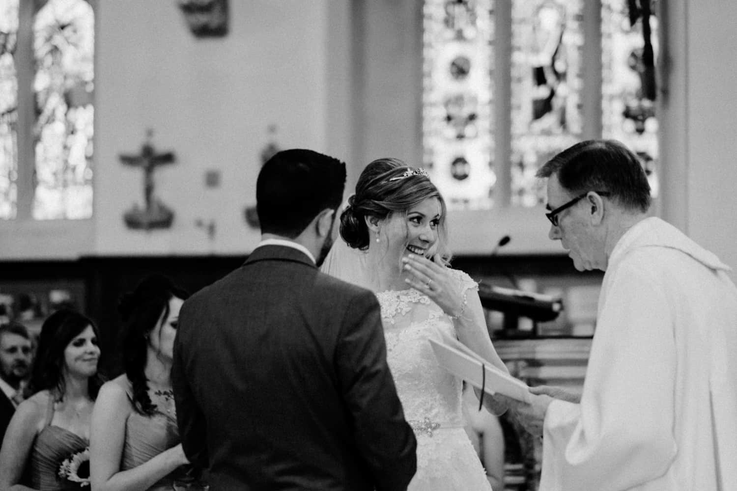 bride with the giggles