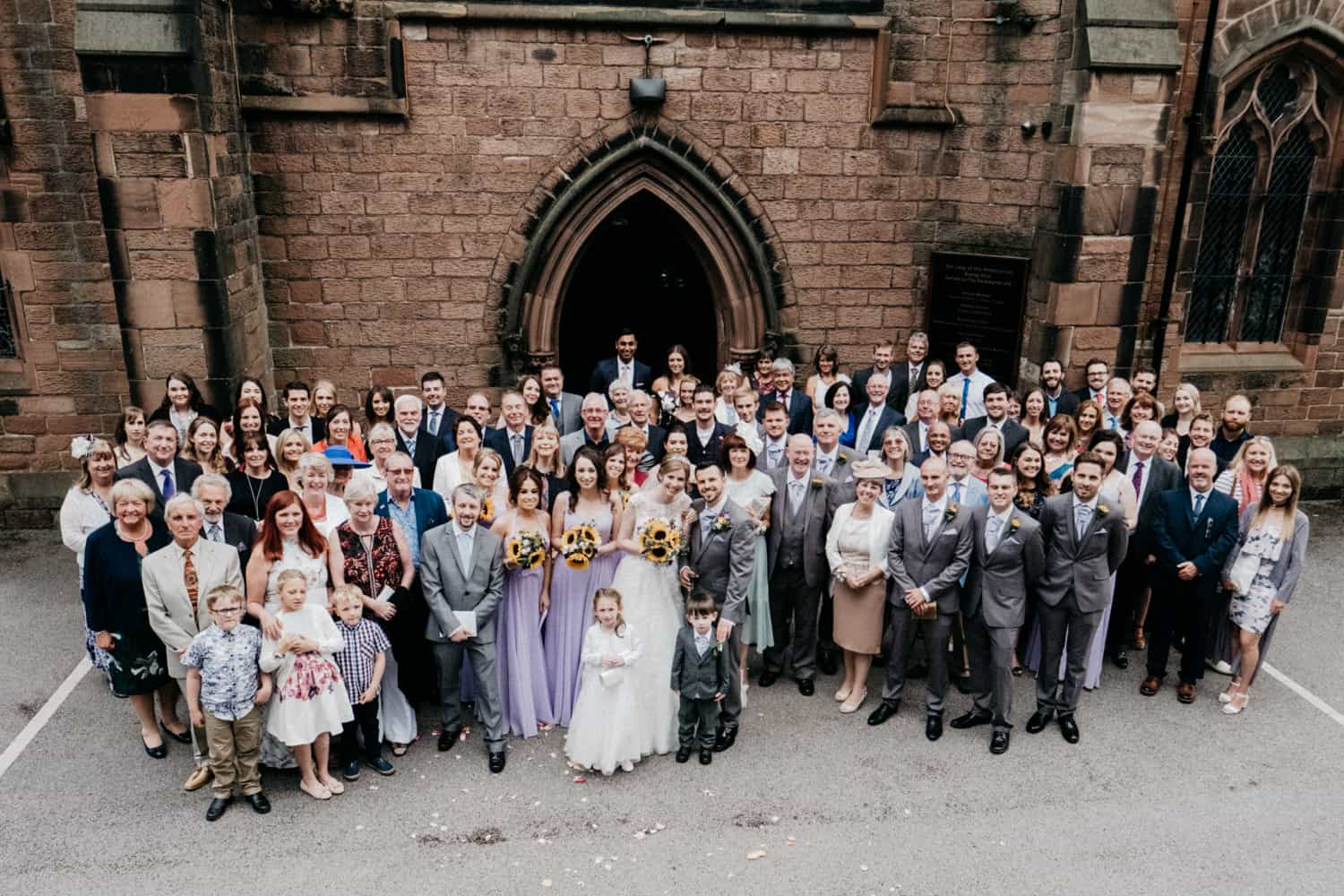 all the wedding guests