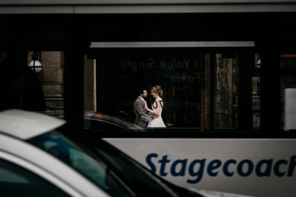 amazing bride and groom portrait