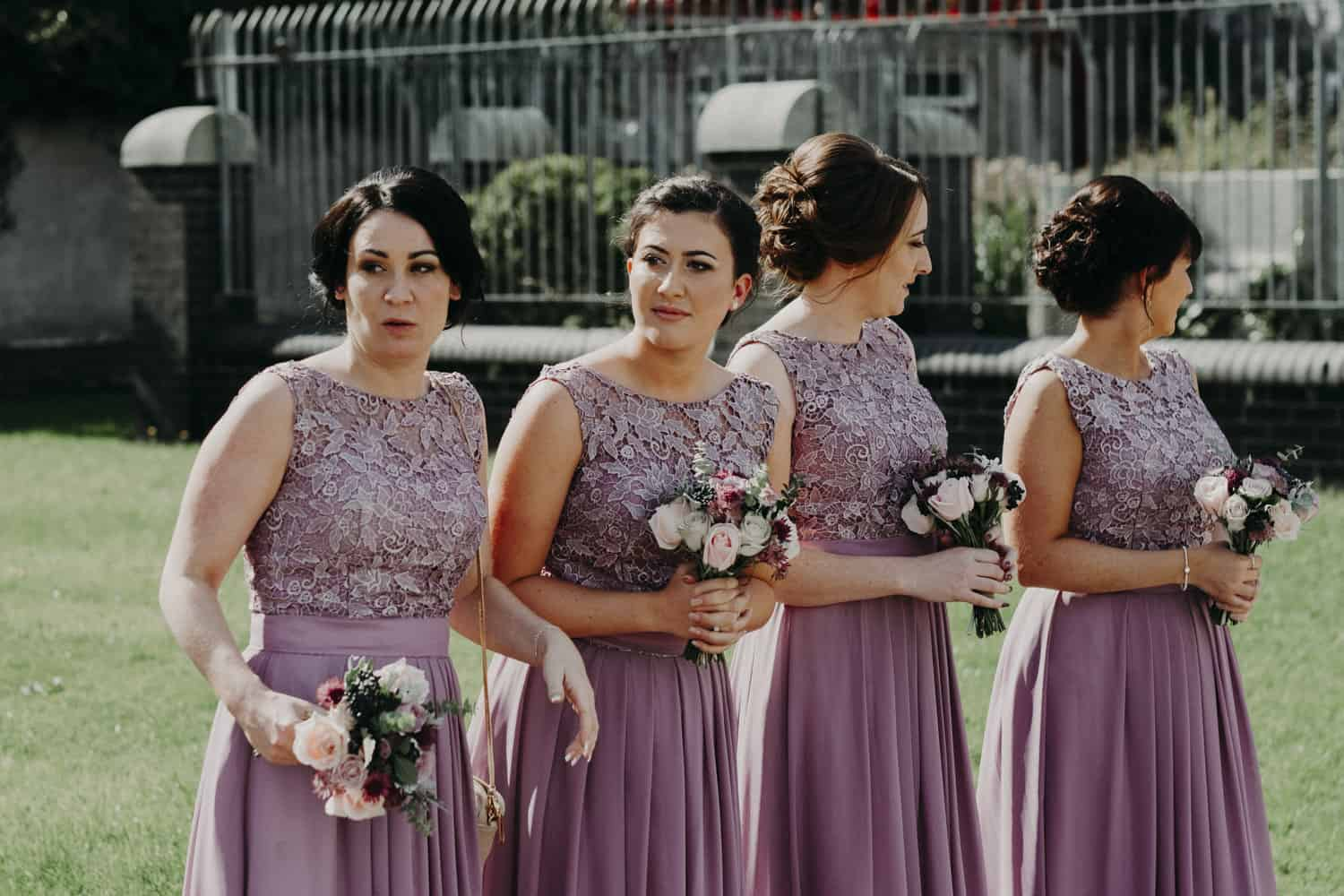 bridesmaids waiting for the bride