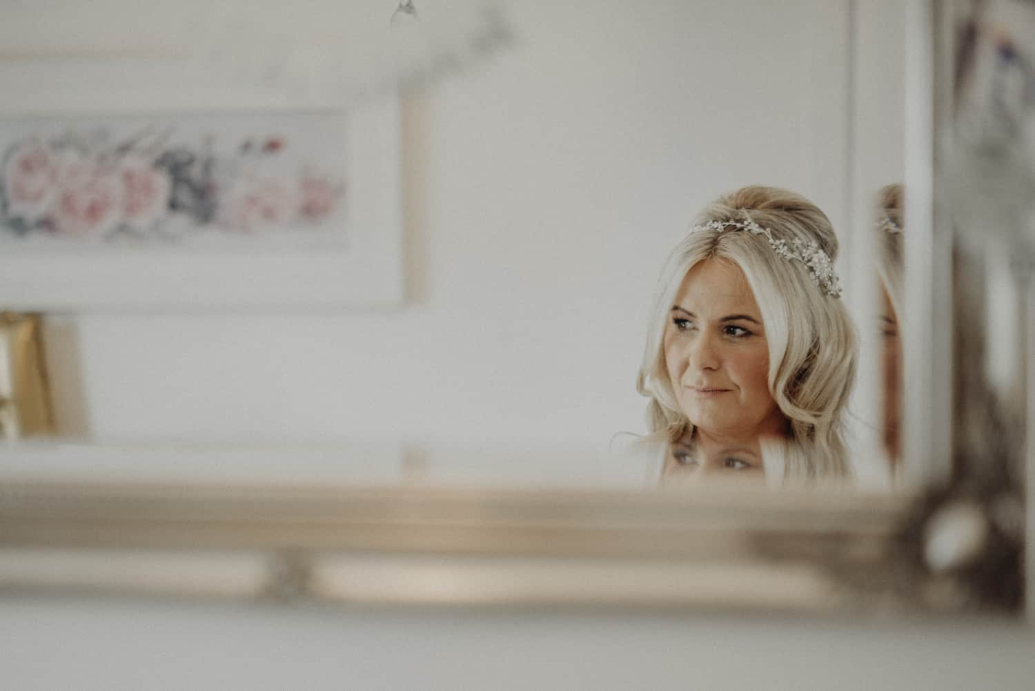 Clever bridal portrait