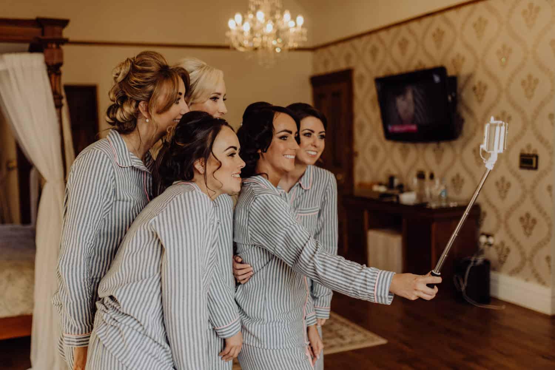bridal part selfie