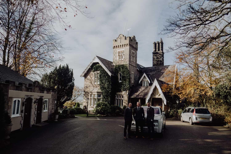 groomsmen at West Tower
