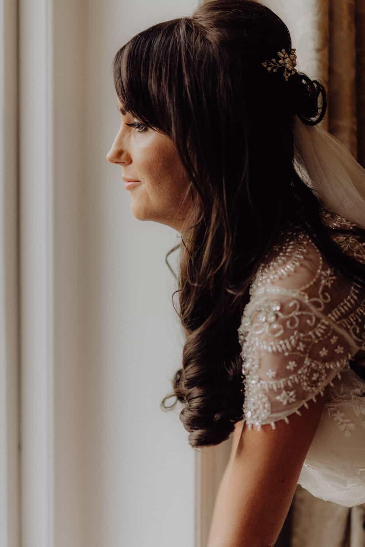 unposed portrait of bride