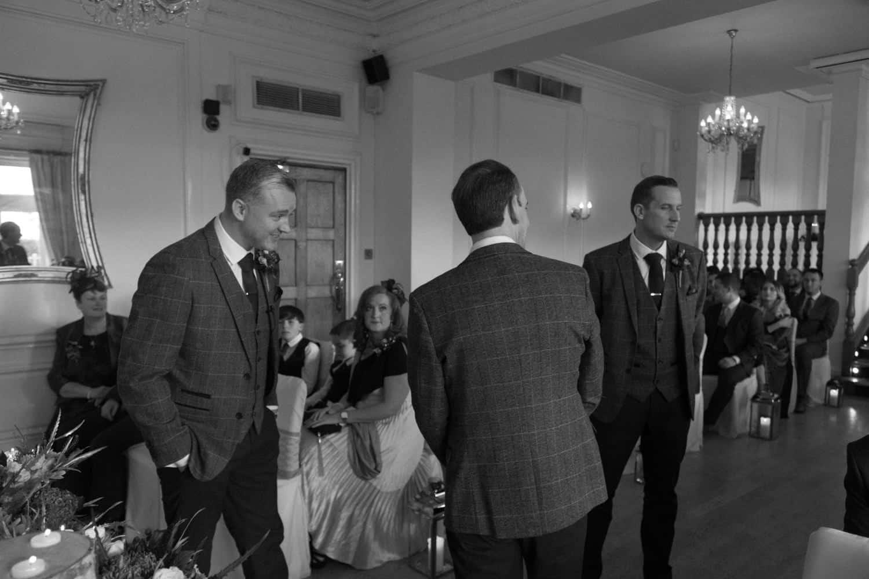 groom nervously waiting