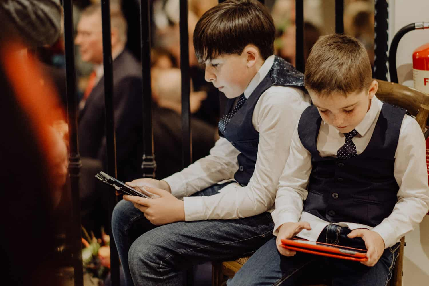 young guests in ipads